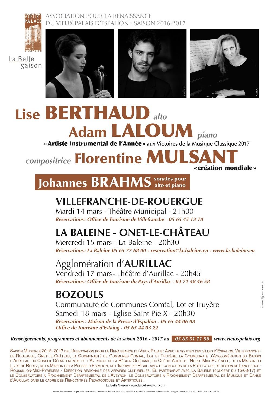 Sonates pour alto et piano de bramhs et mulsant du 14 au - Office de tourisme de villefranche de rouergue ...